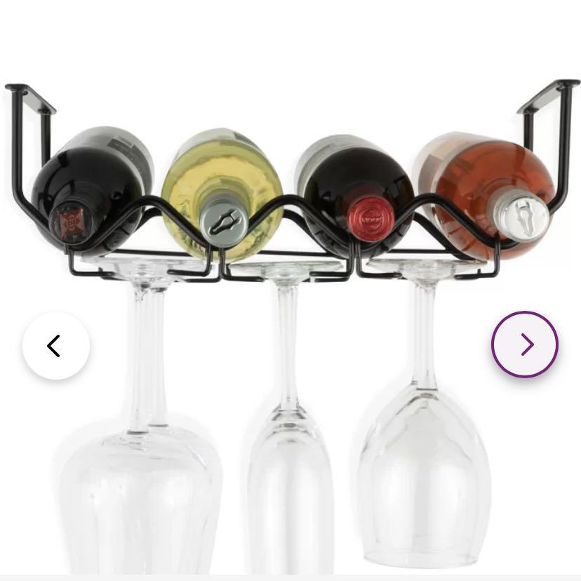 Wine and glass holder