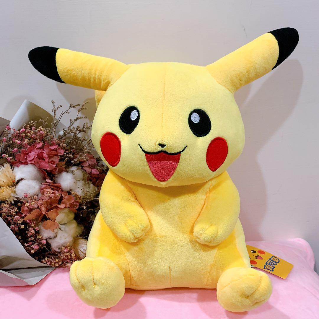 正版雷標 Pokémon 寶可夢 神奇寶貝 皮卡丘 坐姿款 30cm 巨無霸 玩偶 娃娃 交換禮物 可愛 現貨