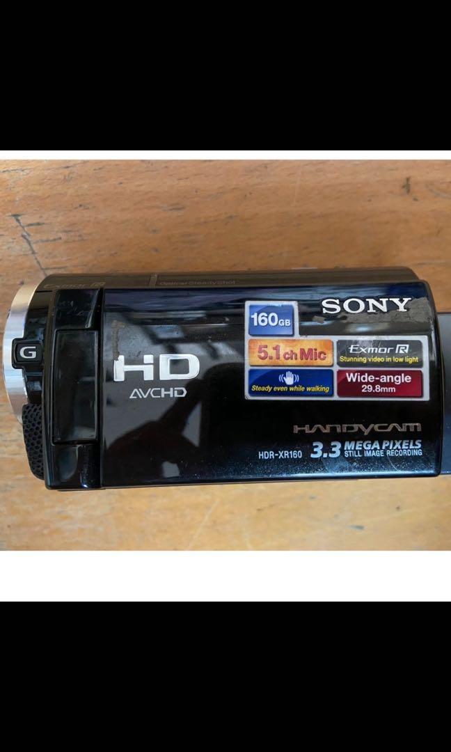 二手 SONY HDR-XR160觸控式數位硬碟攝影機 可開機