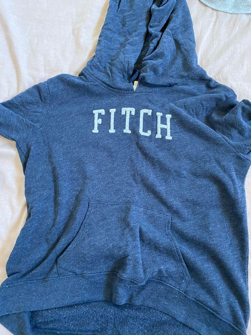 Abercrombie and Fitch jumper hoodie navy