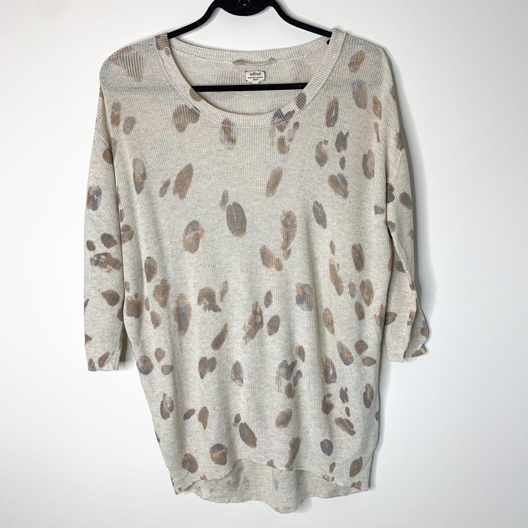 Aritzia Wilfred Balzac Leopard Sweater Size XS