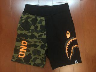 Bape ape 鯊魚 短褲