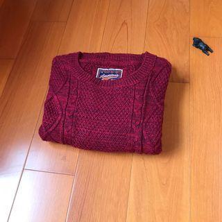 《清倉》CACO 毛衣-酒紅色