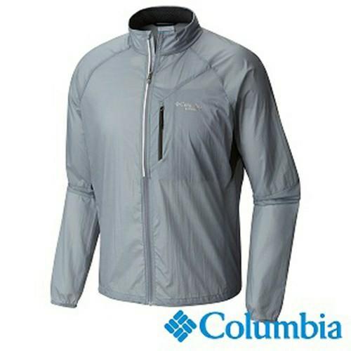 Columbia 男款野跑防風外套 UAE13060 灰色
