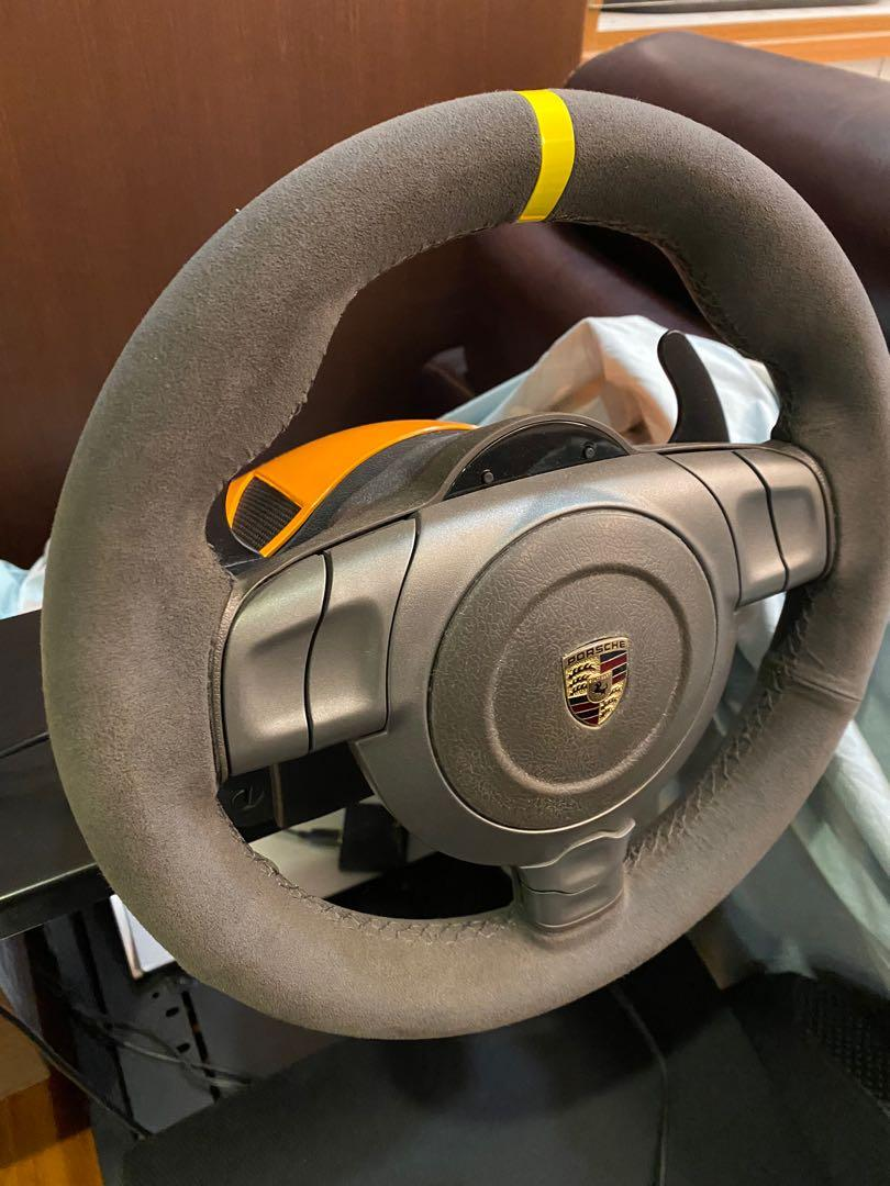 Fanatec gt3rs porsche 方向盤 模擬 踏板 pc ps3 可用轉接器 支援 xbox one ps4
