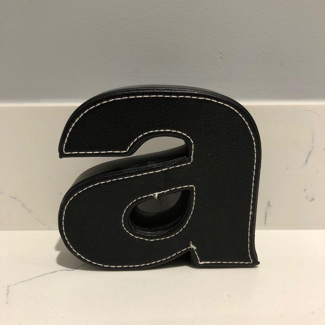 Home Outfitters Monogram Leather Block Letter