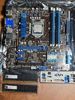 i5-3470 + ASUS P8H77-M Pro + 16GB Ram