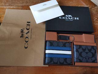 Instock Coach Men's Wallet Gift Set