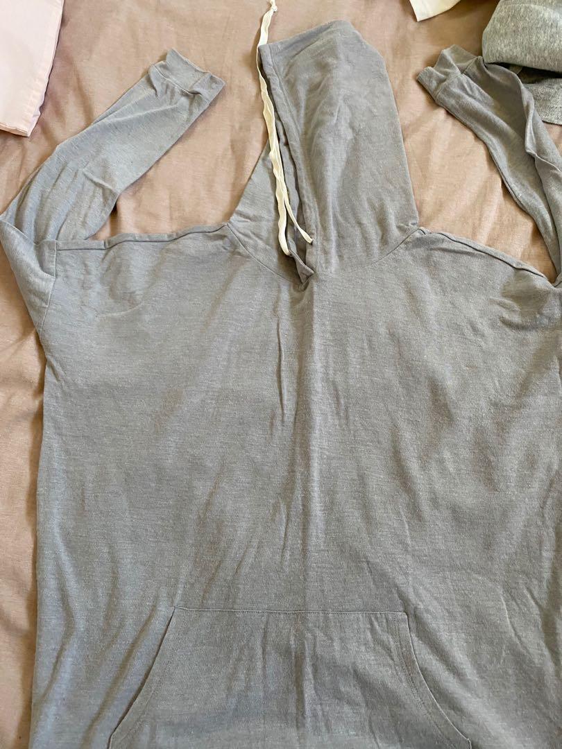 Long sleeve top with hood