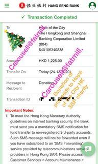 """Merry Christmas 💕🎄donation to local HK charity """"Hope of the City"""""""