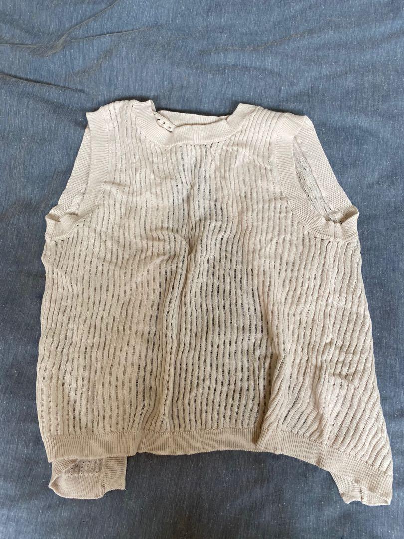 Open back sleeveless knit top