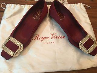 RV Roger vivier 經典方框矮跟鞋(37)