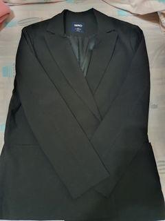 韓國SPAO黑色薄西裝外套#L號