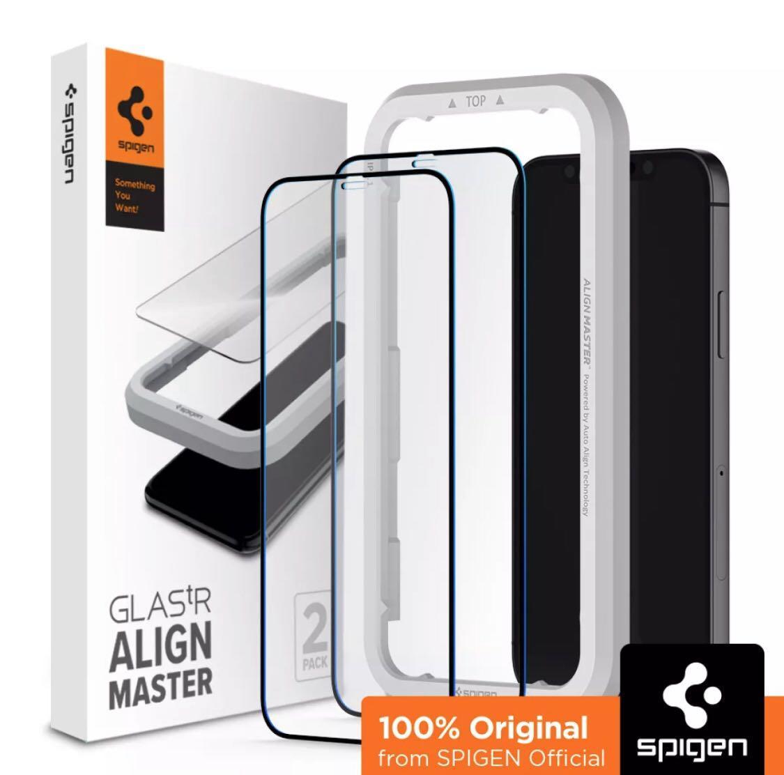SPIGEN [Align Master, Full Cover] iPhone 12 Screen Protector ...