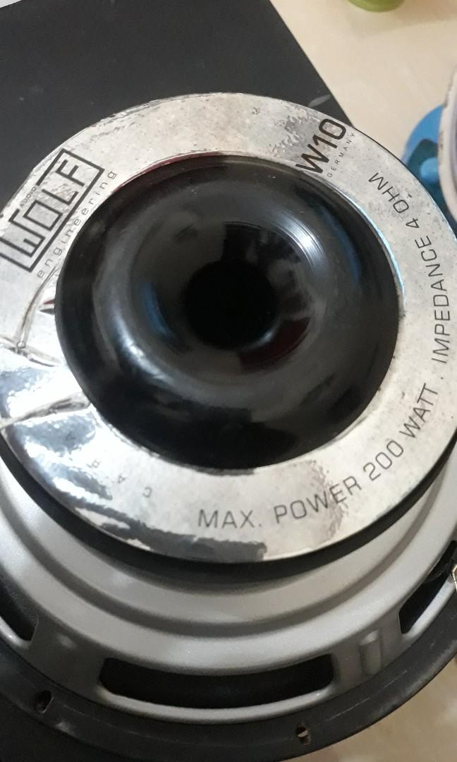 """Subwoofer 10"""" wolff germany"""