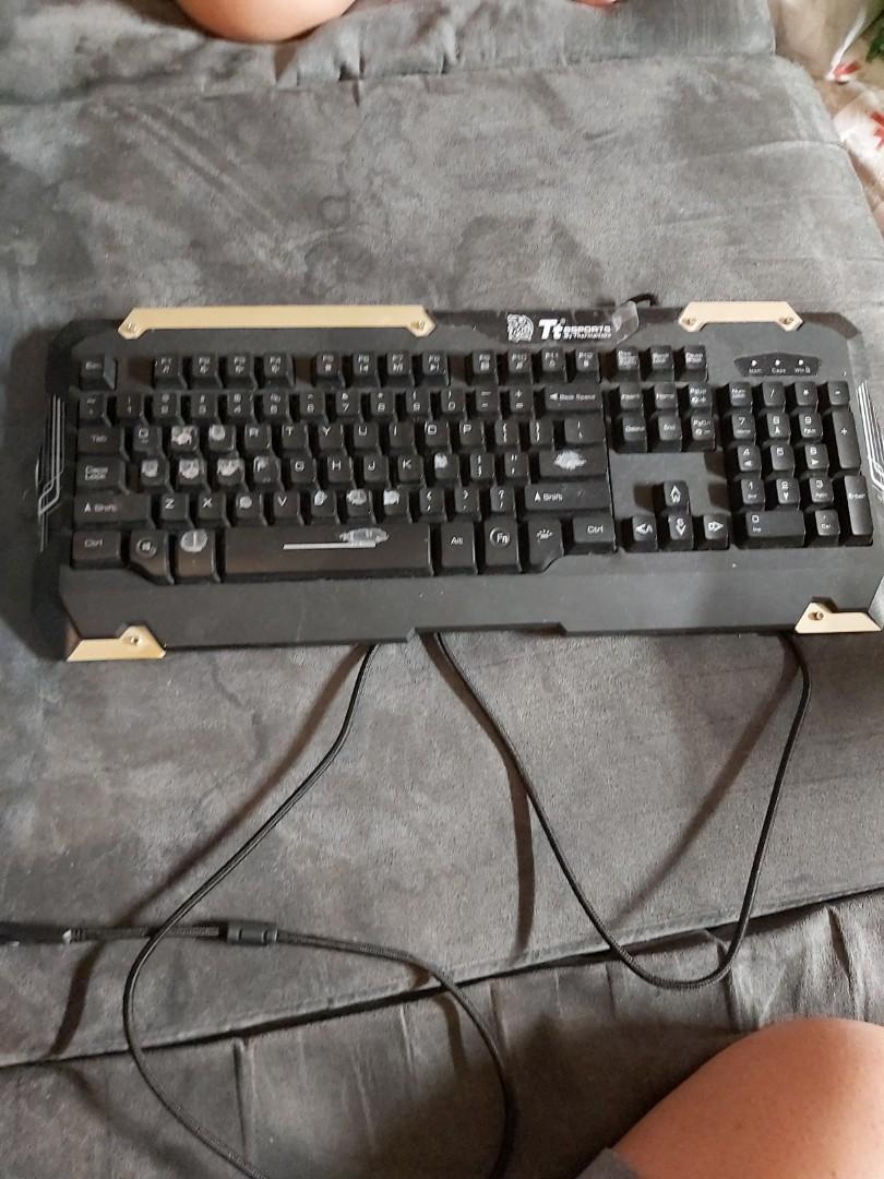 Ttesports Keyboard wired optical gaming