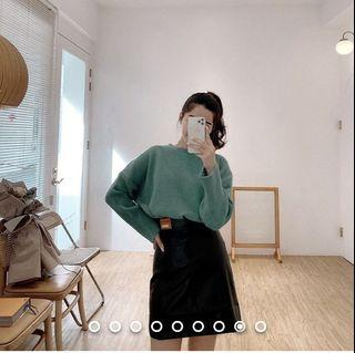 Various 21 八仙女針織上衣直播驚喜 湖水綠