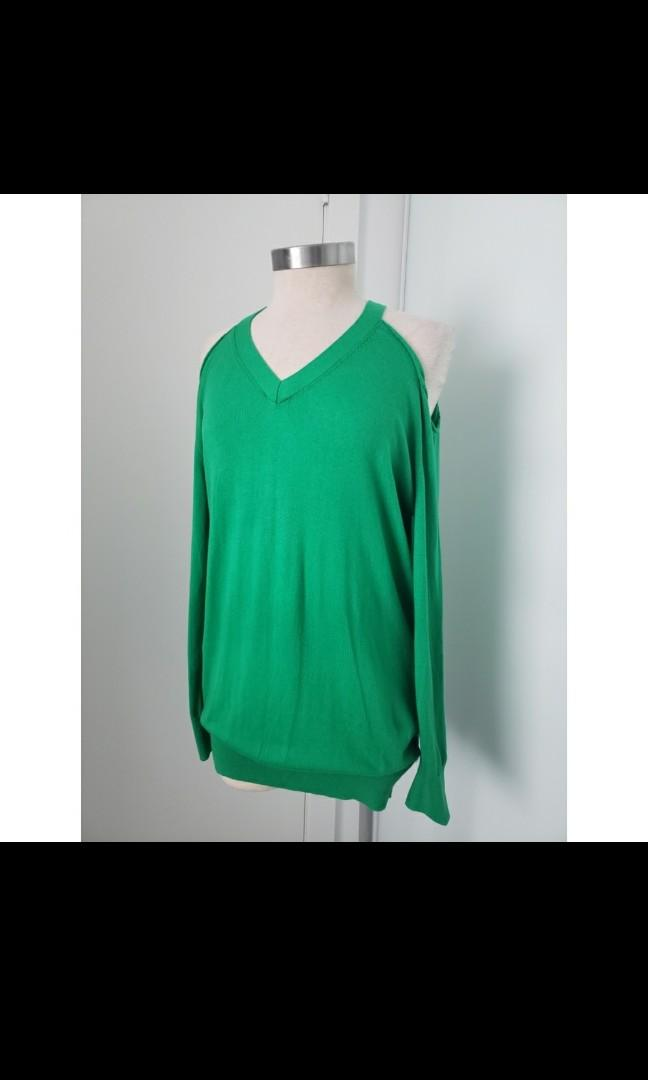 Warehouse cold shoulder sweater