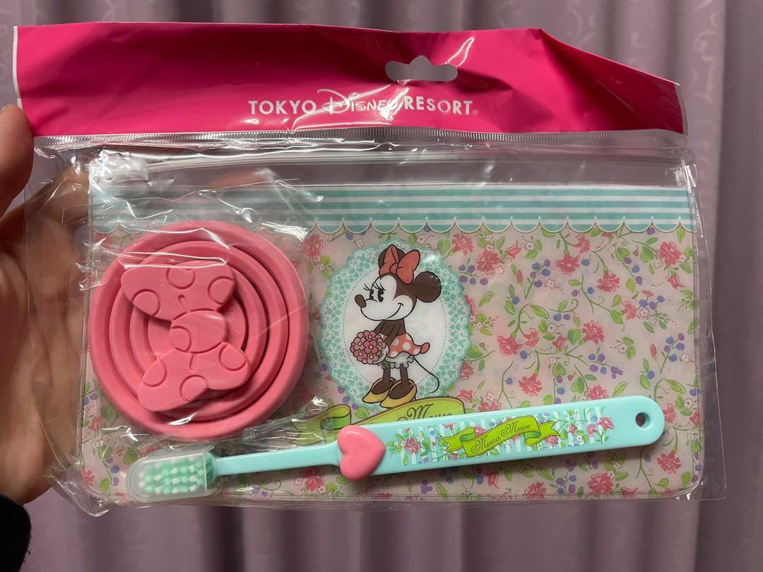 東京迪士尼 米妮刷牙組