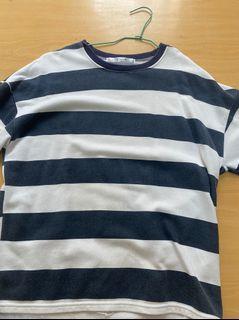 藍色 條紋 短袖