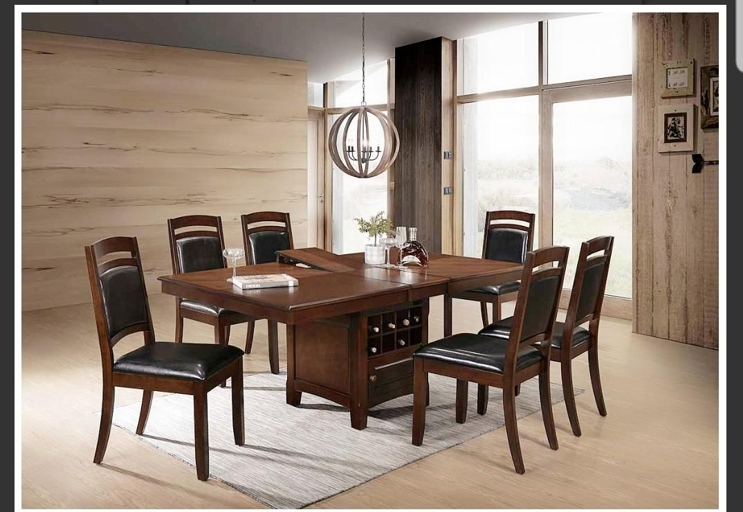 Brand New Dinning table with 6 chairs.