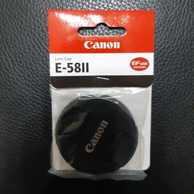 Canon E-58II 佳能 原廠 鏡頭前蓋 鏡頭蓋 58mm