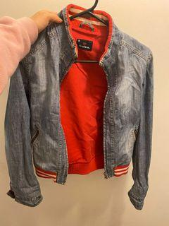 Jean jacket red and white (Salsa)