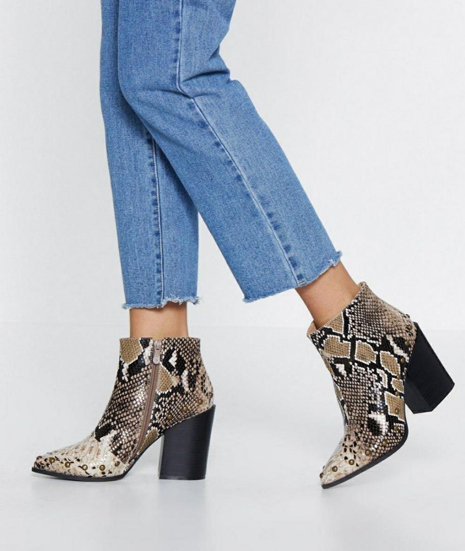 Nastygal snakeskin boots