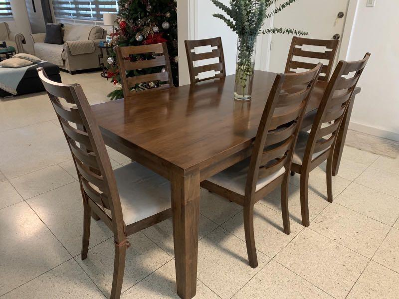 Six Seater Dining Table And Chairs, J And K Furniture Newcastle