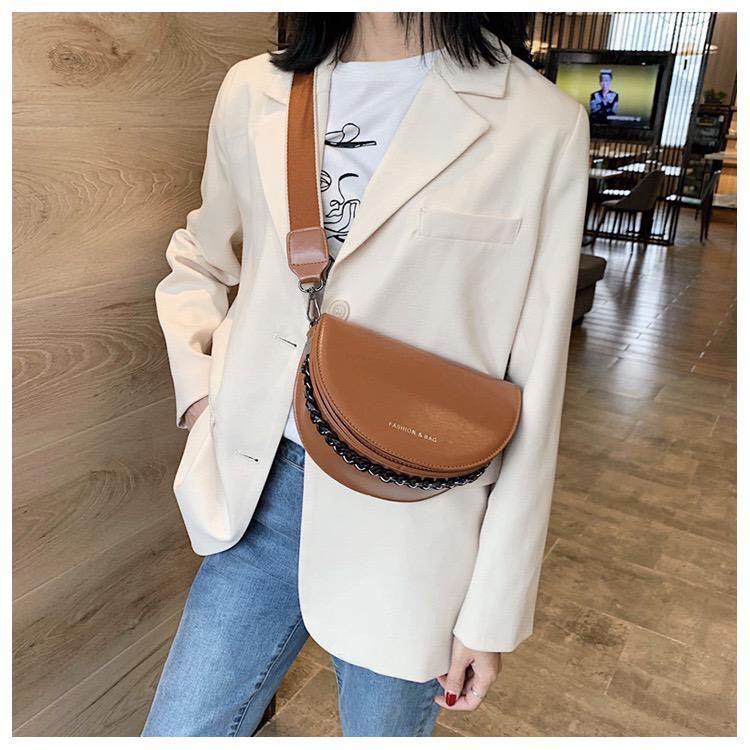 Slingbag leather mocca