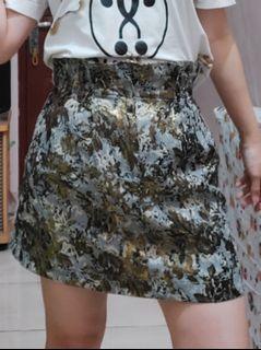 Zara skirt grey gold