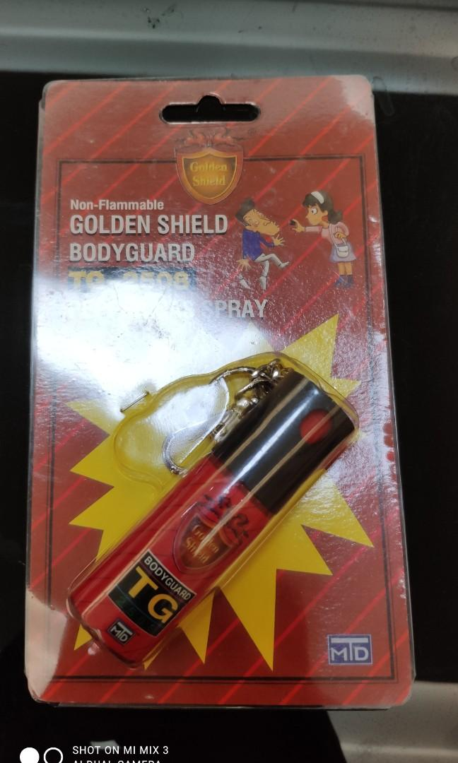 金盾鑰匙圈型防狼噴霧劑 25g