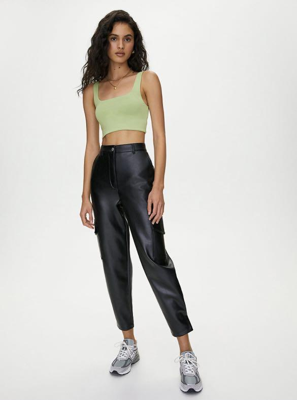 ARITZIA WILFRED FREE LEATHER MODERN CARGO PANT