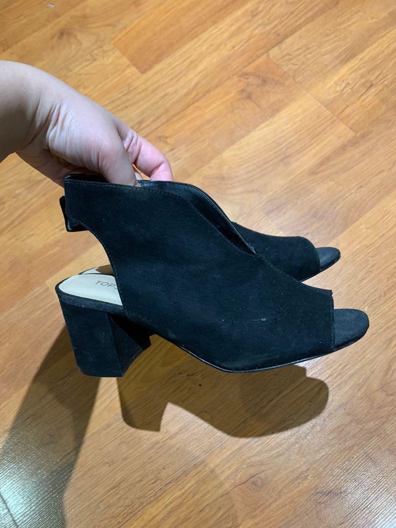 Black Velvet Top Shop Shoes (size 6)