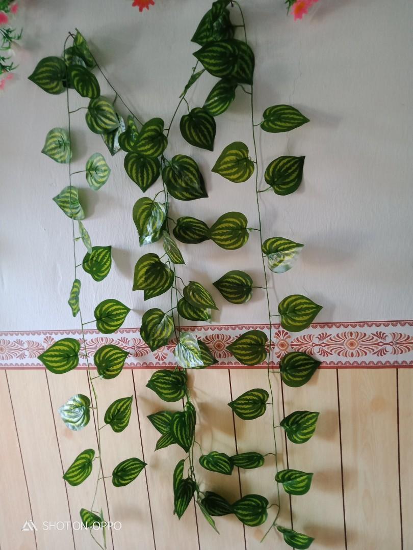 Daun sirih rambat plastik Artificial pajangan dinding