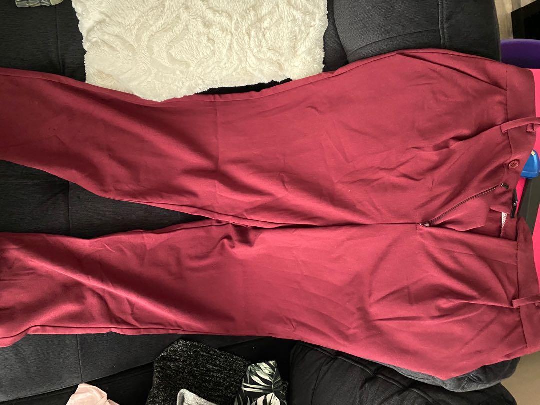F21 maroon pants