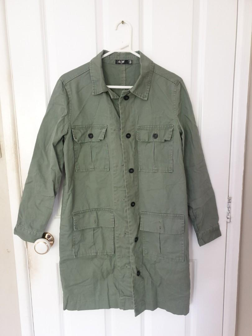 Oversized army jacket
