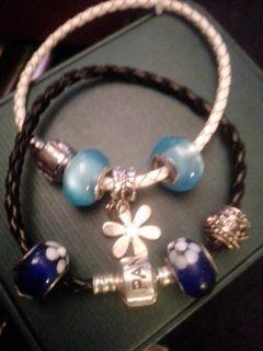 Pandora charm bracelets x 2