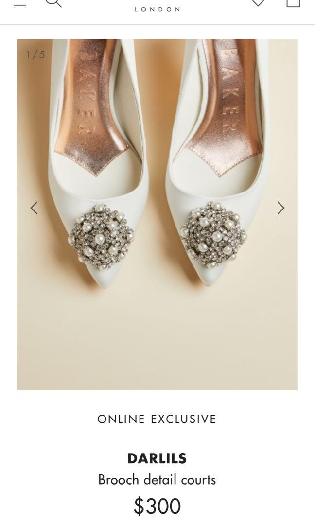 Ted Baker white bridal heels