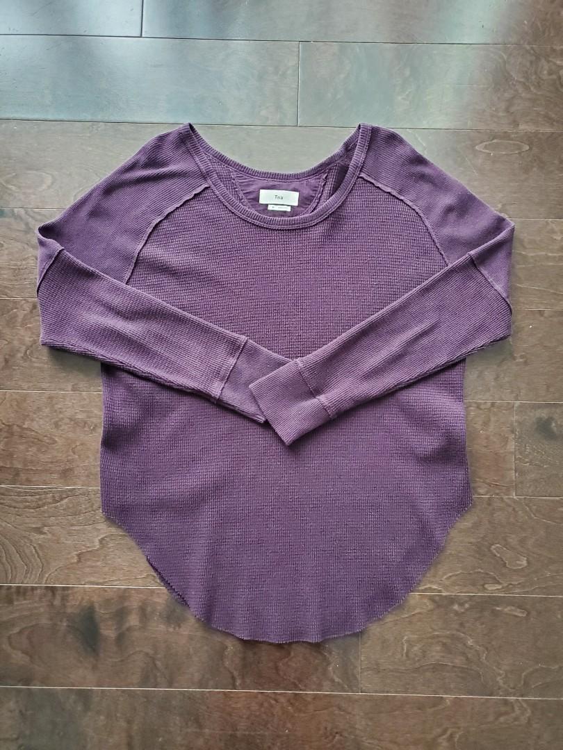 TNA Purple Thermal Long Sleeve Shirt - Medium
