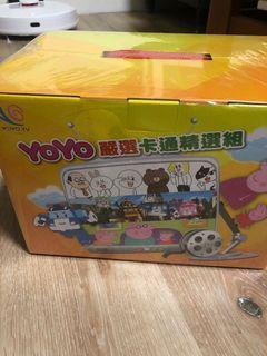 三貝德數位學習yoyo卡通精選組line/polo/佩佩豬