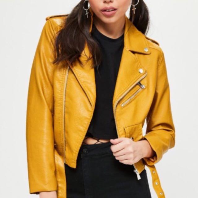 Zara Mustard Leather Jacket