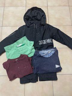 120-130男童外套和綿衫