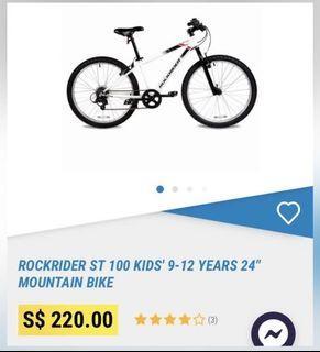 """24"""" Rockrider ST 100 Kid Mountain Bike"""