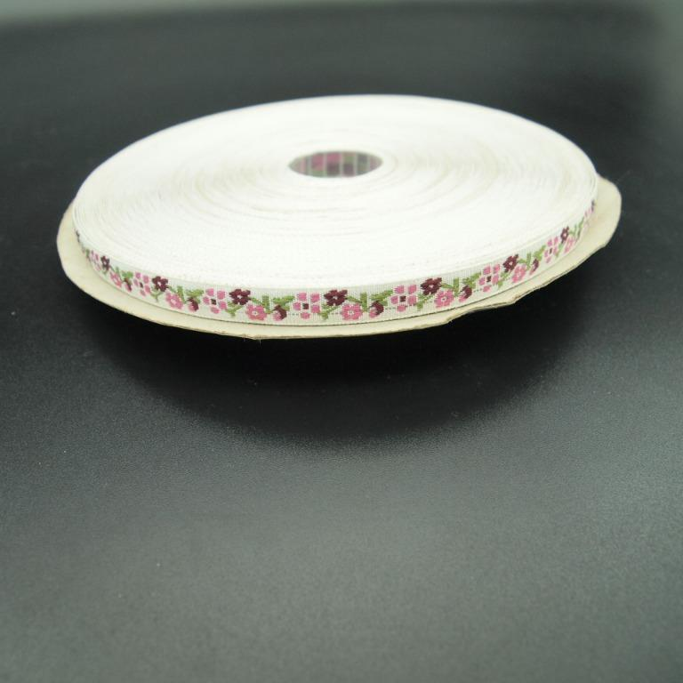個人閒置 粉紅小花蕾絲花邊一捲 1cm寬 10碼長(900cm))
