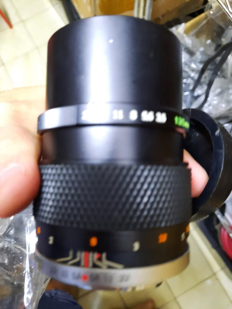 鏡頭 olympus 135mm f3.5 om 無配件 有黴 還可用