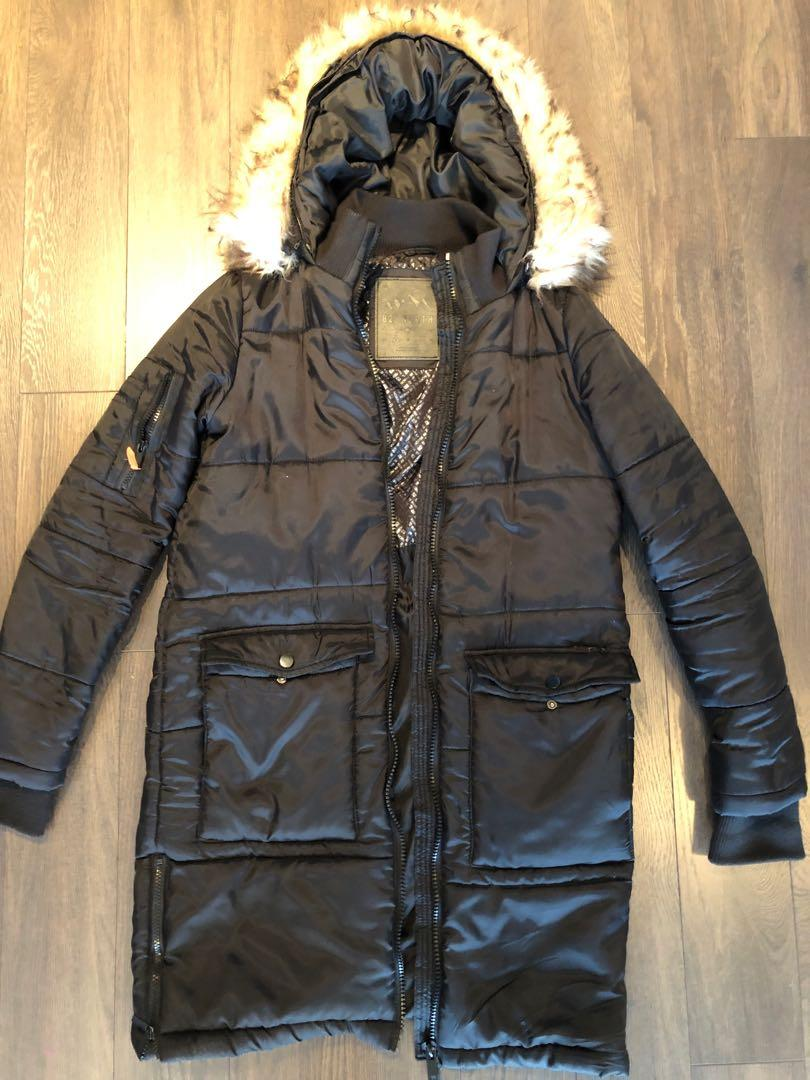Ardene Size Small 100% Polyster Waterproof Parka jacket