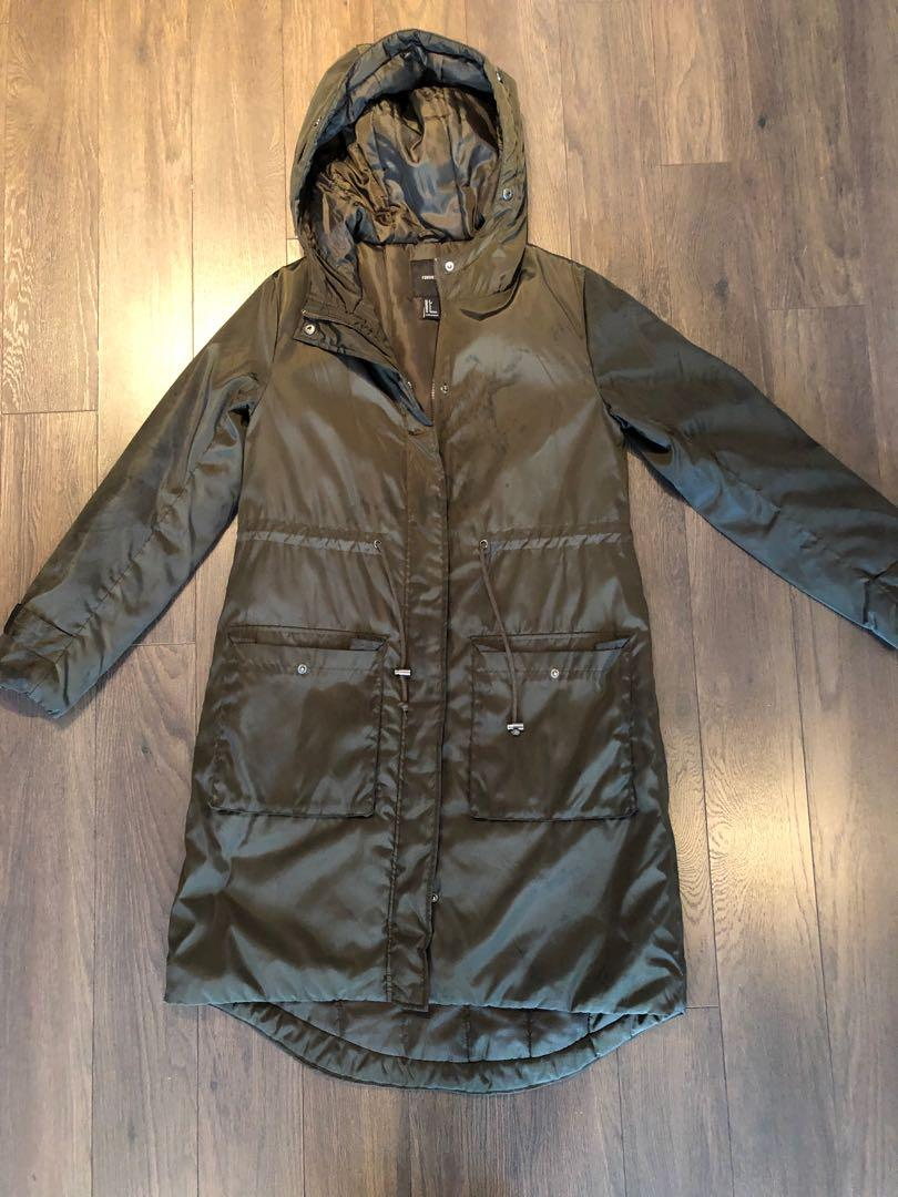Forever 21 Trench jacket Size small in olive green