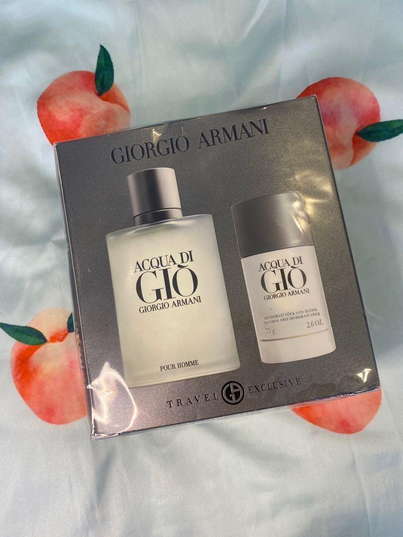 Giorgio Armani ACQUA DI cologne 100ml and deodorant stick 75ml