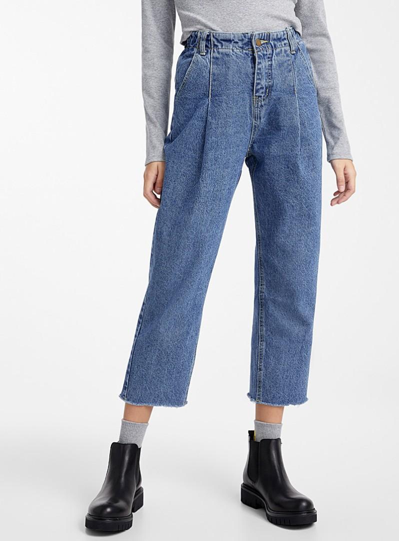 Brand New Simons Elastic Waist Pleated High-rise Jean
